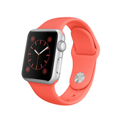 苹果 Apple Watch SPORT 38毫米银色铝金属表壳搭配橙色运动型表带