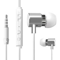 瑞歌 高保真入耳式线控音乐手机耳机 适用于三星苹果小米红米魅族联想华为荣耀魅蓝酷派 白色 金属款(两件减10元)产品图片主图