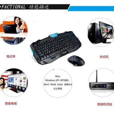 其他 如意鸟 无线键盘鼠标套装电视笔记本游戏无线键鼠套装 升级版 智能断电六键变速珍珠白产品图片2
