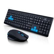 其他 如意鸟  无线键鼠套装蓝色游戏热键迷你USB接收器 电视电脑通用 黑色
