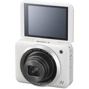 佳能 PowerShot N2 数码相机 白色 自拍相机 180°上翻式触摸屏 1610万有效像素 wifi传输