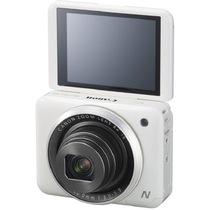 佳能 PowerShot N2 数码相机 白色 自拍相机 180°上翻式触摸屏 1610万有效像素 wifi传输产品图片主图