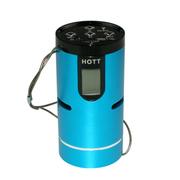 火特 便携插卡音箱 自行车音响低音炮 MP3外放 FM收音机 USB声卡功能 蓝色