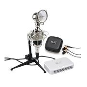 魅声 T8-2电容麦克风网络k歌设备套装录音话筒外置声卡电脑专用 送悬臂支架