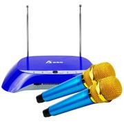 澳莱特(AOLAITE) 一拖二无线话筒N-08  家用KTV专用电脑手机网络K歌专业无线麦克风