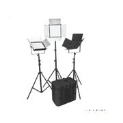 富莱仕 C900影视灯LED灯外拍三灯套装摄影灯摄像影棚人像、服装、儿童拍摄等 含灯架版