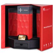 浩酷 Borofone M2无线蓝牙音箱 户外运动便携音响 低音炮 NFC配对 红色-