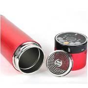 美创 智能蓝牙音乐水杯高档不锈钢保温杯 内置蓝牙音箱 可接听电话 绚丽红