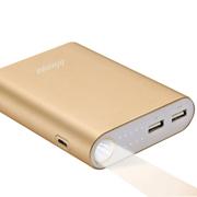 蓝强(blueqa) 移动电源10000毫安 充电宝iphone6苹果5s三星小米手机平板通用 土豪金