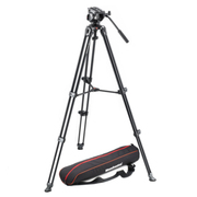 曼富图 MVK500AM 液压摄像三脚架 单反相机摄影摄像三角架云台套装 承重:5kg