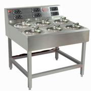 乐创 MWD-A06商用电六头 全自动煲仔饭机 智能定时煲仔炉 锡纸专用砂锅