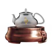 佰宝(Babol) 兽耳铜炉养生炉套装 超静音电陶炉 紫铜煮茶炉 全玻璃养生壶