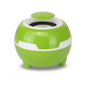 YEMEKE 电脑音响 小苹果USB多媒体低音炮音箱 笔记本台式电脑迷你小音响 绿白一对