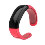 喜木 智能手环 运动计步器手环 自拍震动通话手镯 4.0蓝牙IOS/安卓腕带音乐播放器 红色.