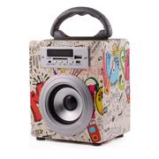 艾米尼 LED发光 蓝牙音箱 无线音箱 音响低音炮 收音机插卡音响 时尚蓝