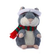 趣玩 会说话的录音仓鼠圣诞版 灰色