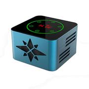 SENBOWE 无线蓝牙音箱 触摸屏音响低音炮 迷你便携接听电话户外收音机 智能语音 浅蓝色