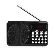 SENBOWE 老年人收音机mp3插卡音箱便携式播放器迷你小音响低音炮随身听MP3外放音箱 炫酷黑色产品图片主图