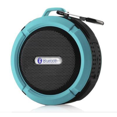 SENBOWE 无线手机蓝牙音响 车载免提通话 便携插卡迷你音箱 强力硅胶吸盘 金属挂扣 炫酷蓝色产品图片1