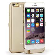 CRDC iPhone6 Plus无线充电宝 移动电源无线背夹电池 适用于iPhone6 5.5英寸 4000毫安 金色