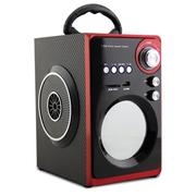 SENBOWE 便携式手提插卡音箱老人户外广场舞音响移动充电低音炮FM收音机 炫酷黑色
