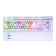 优贵 青梅竹马K216 彩虹LED背光键盘 红轴机械手感 悬浮键帽设计 小苍LOL键盘