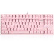 其他 机械风暴 ML-87便携游戏机械键盘 粉色茶轴