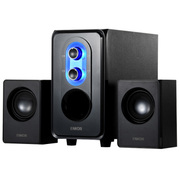 恩科 E50多媒体2.1音箱木质低音炮电脑组合音响特价 黑色