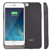 CRDC iPhone6背夹电池苹果6移动电源 手机充电宝 适用于iPhone6 4.7英寸 黑色