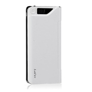 leik 正品手机超薄锂聚合物电池移动电源13000mah毫安移动电源苹果移动充电宝移动充 白色