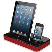 ipega 【顺丰配送】三星 小米 手机音响底座 iPhone6 iPad充电音箱平板 红色