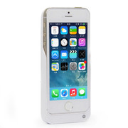 RUIBO iphone5s背夹电池苹果 5移动电源5S土豪金便携式无线充电宝 陶瓷白3200mAh