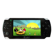 小霸王 智能掌上PSP游戏机S100 双核主频掌机4.3寸屏带摄像安卓系统WIFI上网 黑色 标配4G版本