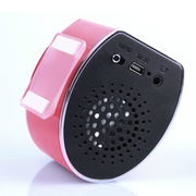 SANSUI d16便携音响插卡小音箱低音炮迷你音乐播放器随身听mp3老人收音机 粉色