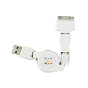 其他 风致(FENGZHI)三合一多功能USB数据线 适用于苹果4、安卓手机 充电宝充电器多用