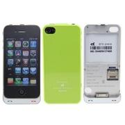 绿帆 iPhone4/4s电池背夹  精美苹果4/4S保护壳式移动电源 绿色(赠送苹果4手机贴膜)