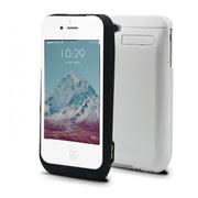 RUIBO iphone4/4S通用苹果背夹电池无线大容量充电宝移动电源充电器 磨砂黑