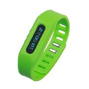 YEMEKE 智能运动手环计步器OLED隐形显示 手表 来电提醒 减肥瘦身神器 防丢跟踪 绿色