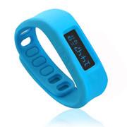 喜越 D2健康运动智能手环睡眠监测计步器安卓苹果蓝牙手镯 天蓝色2.1版本