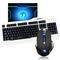 新盟 曼巴狂蛇7D宏定义鼠标 有线键盘套装 游戏键鼠套装 LOL CF游戏键鼠套 狂蛇黑+K18三色发光+垫产品图片1