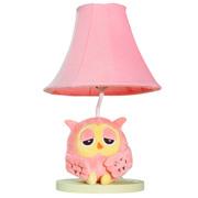 生活演绎 现代简约卧室台灯猫头鹰儿童房床头灯 时尚个性宜家可爱创意台灯 粉红色