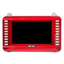 先科 【可货到付款】老人看戏机 7寸移动DVD  高清视频播放 支持多种格式碟片 红色带DVD 标配产品图片主图