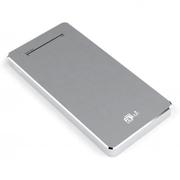aMagic 纤薄移动电源6000毫安充电宝iPhone6plus/5S通用 银色