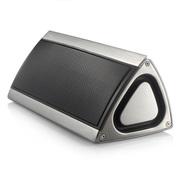 LKER 蓝牙音箱 电脑游戏音响 手机低音炮 家居无线大音箱 车载便携金属音箱 银白