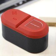 YESHM 森泊 双声道无线蓝牙音响 蓝牙音箱 笔记本音响 iPhone电脑播放器 低音炮 红色