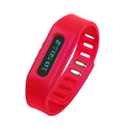 YEMEKE 智能运动手环计步器OLED隐形显示 手表 来电提醒 减肥瘦身神器 防丢跟踪 红色