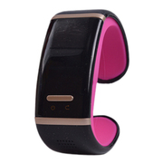威马仕 智能蓝牙手表智能手环苹果安卓蓝牙手表手镯手机伴侣 红色