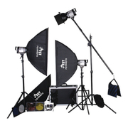 影光王 专业影棚三灯套装 外拍灯柔光箱专业摄影器材 三灯500W套装