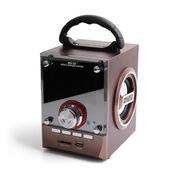 SENBOWE 便携式插卡手提充电音箱 迷你MP3音响可遥控音乐播放器 低音炮FM收音机 咖啡色