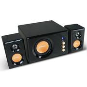 SANSUI 32B笔记本音响 电脑音箱带蓝牙版 插U盘多媒体 家用 2.1低音炮 普通版